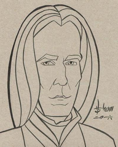 Alan Rickman as Severus Snape by howardshum