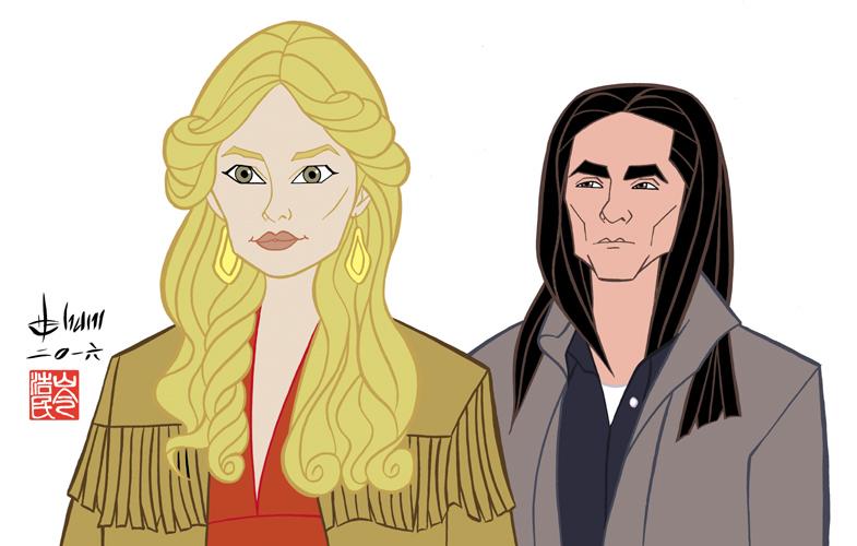 Rachel Keller and Zahn McClarnon - Fargo by howardshum