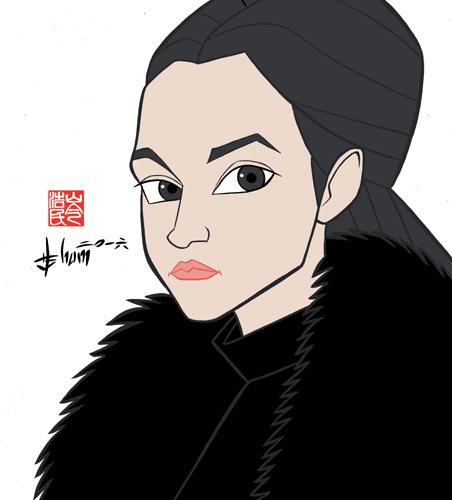 Bella Ramsey - Lyanna Mormont - Game of Thrones by howardshum
