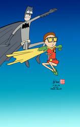 Rick and Morty: The Dark Knight Returns by howardshum
