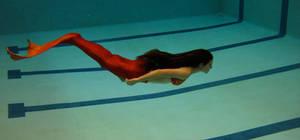 Mermaid tail swim test by jadestonethedragon