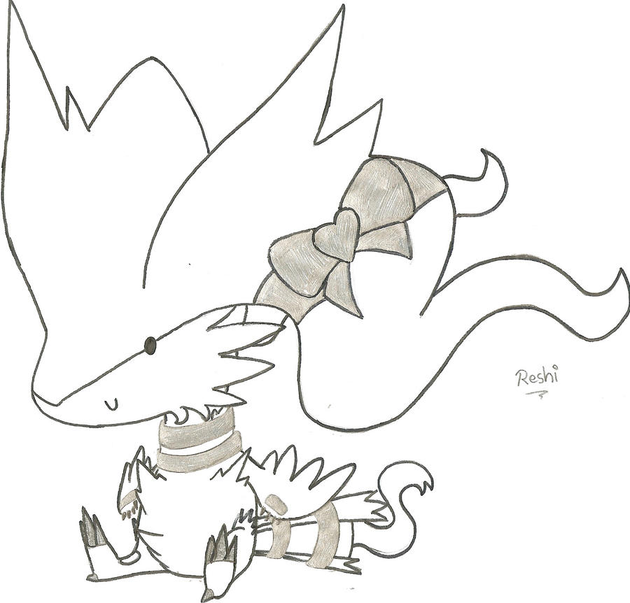 Reshiram And Zekrom Free Coloring Pages