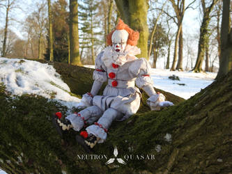 PENNYWISE - POSEABLE ART DOLL by Neutron-Quasar