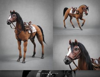 ZARBACH THE HORSE - POSEABLE ART DOLL