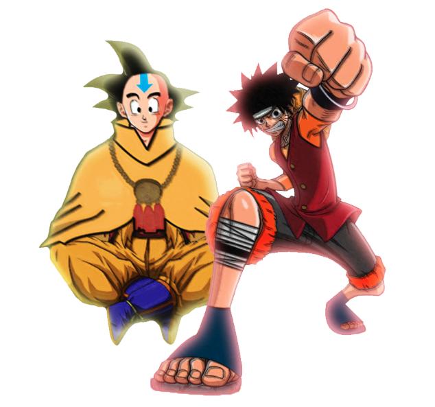 potara fusion goku and luffy meet
