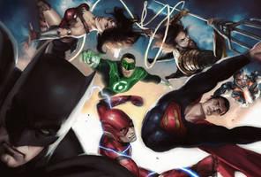 Justice League - Alex Ross Tribute by zg01man