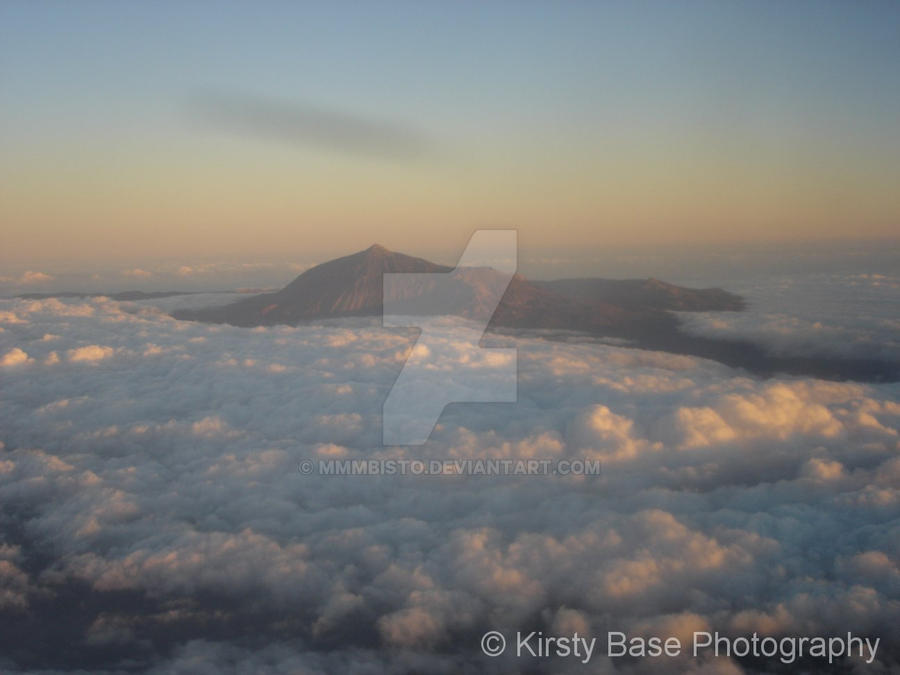 Mount Teidi from the sky