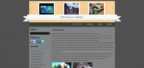 My Photolog website design by mmmbisto