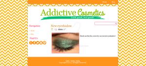 Addictive Cosmetics Blogger Template