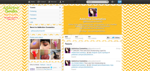 Addictive Cosmetics Twitter Mockup