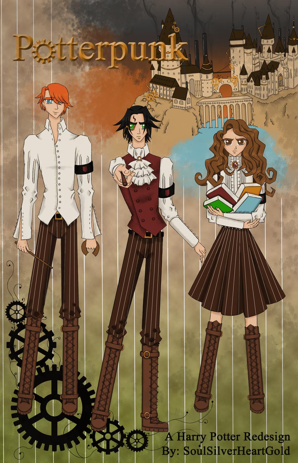 Potterpunk - Harry Potter Trio Redesign by ... Harry Potter Trio Fan Art