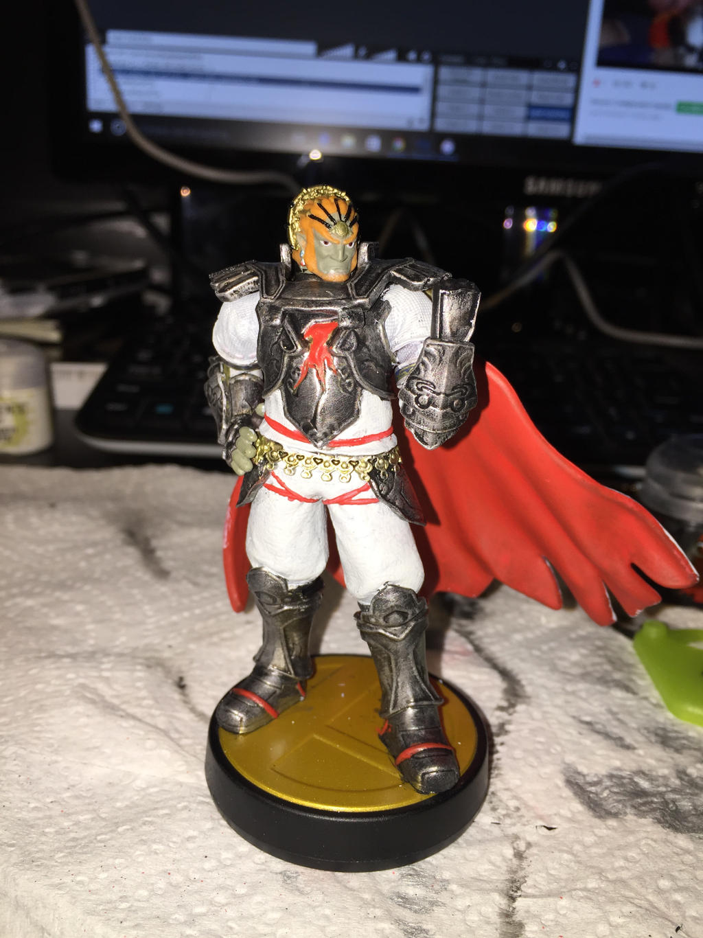 Ganondorf Custom Paint Amiibo By Kunkmast3rfl3x On Deviantart