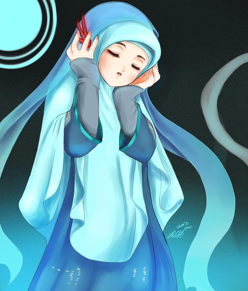 A Song For You Yuzuhana On Deviantart Jpg 824x970 Islamic Anime Hijab Muslimah Picturesque