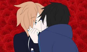 Anime Riku and Ryoko Kiss