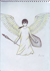 Angel drawing by Aectre