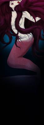 Fake mermaid bookmark