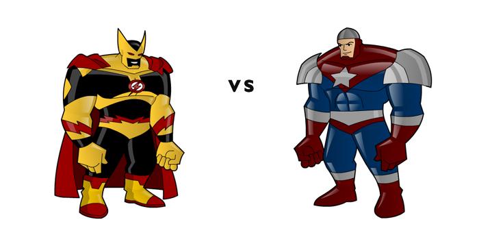 King Chrono vs General Flag by KingChrono
