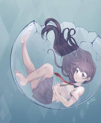 Girl in glass ball by Takitori0501