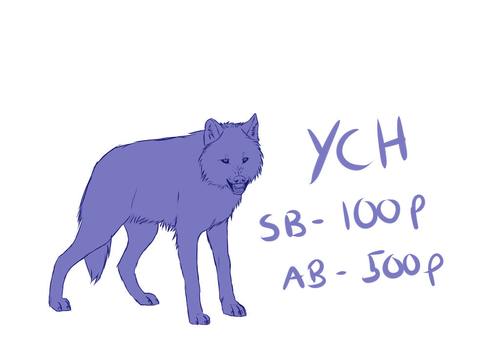 Snarly wolf YCH auction -CLOSED- by nihtgield