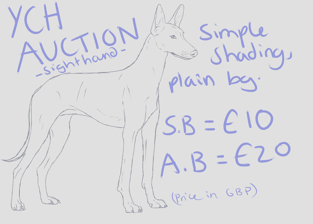 Sighthound YCH Auction -OPEN- by nihtgield