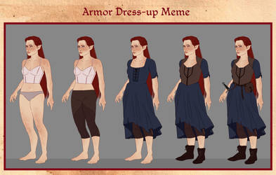TMM - Aoife dressup meme by misi-chan