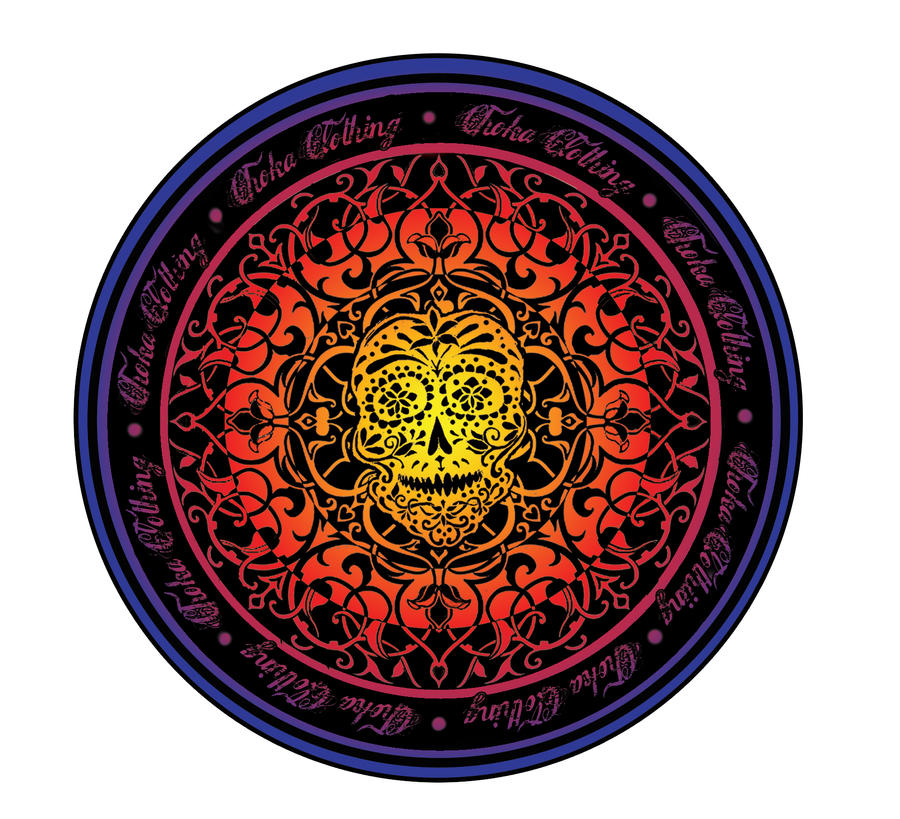 Clothing Design 39 Day Of The Dead Skull Emblem 39 By