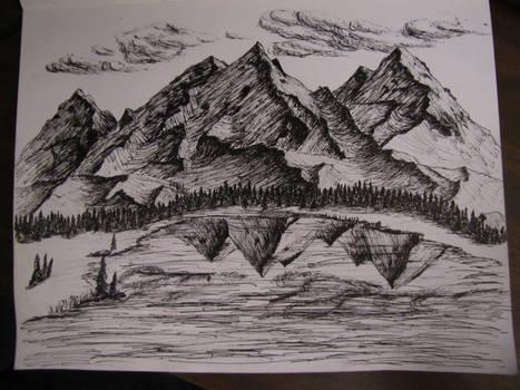 Large Mountain Sketch