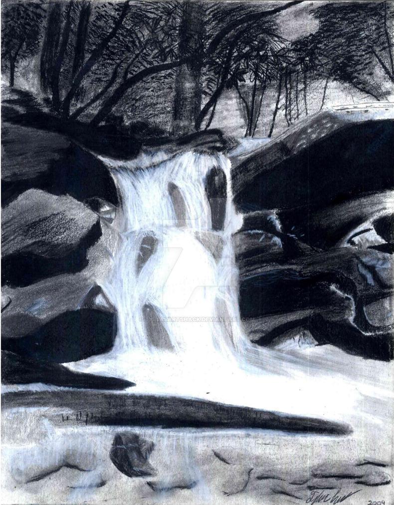 Waterfall Drawing by TylersArtShack on DeviantArt
