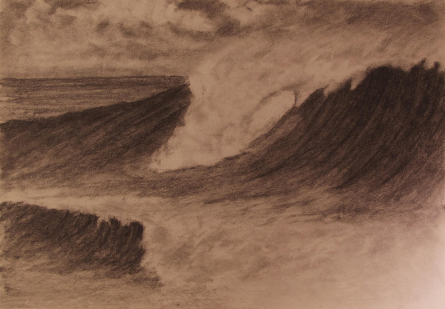 how to draw a wave crashing