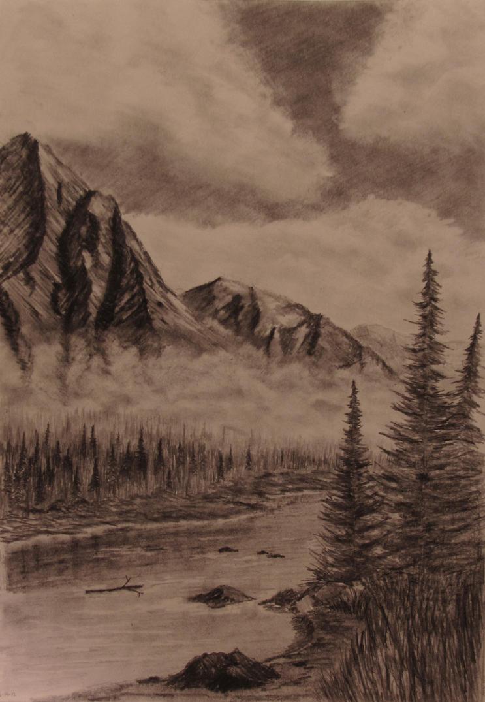 Mountains in the Mist by TylersArtShack
