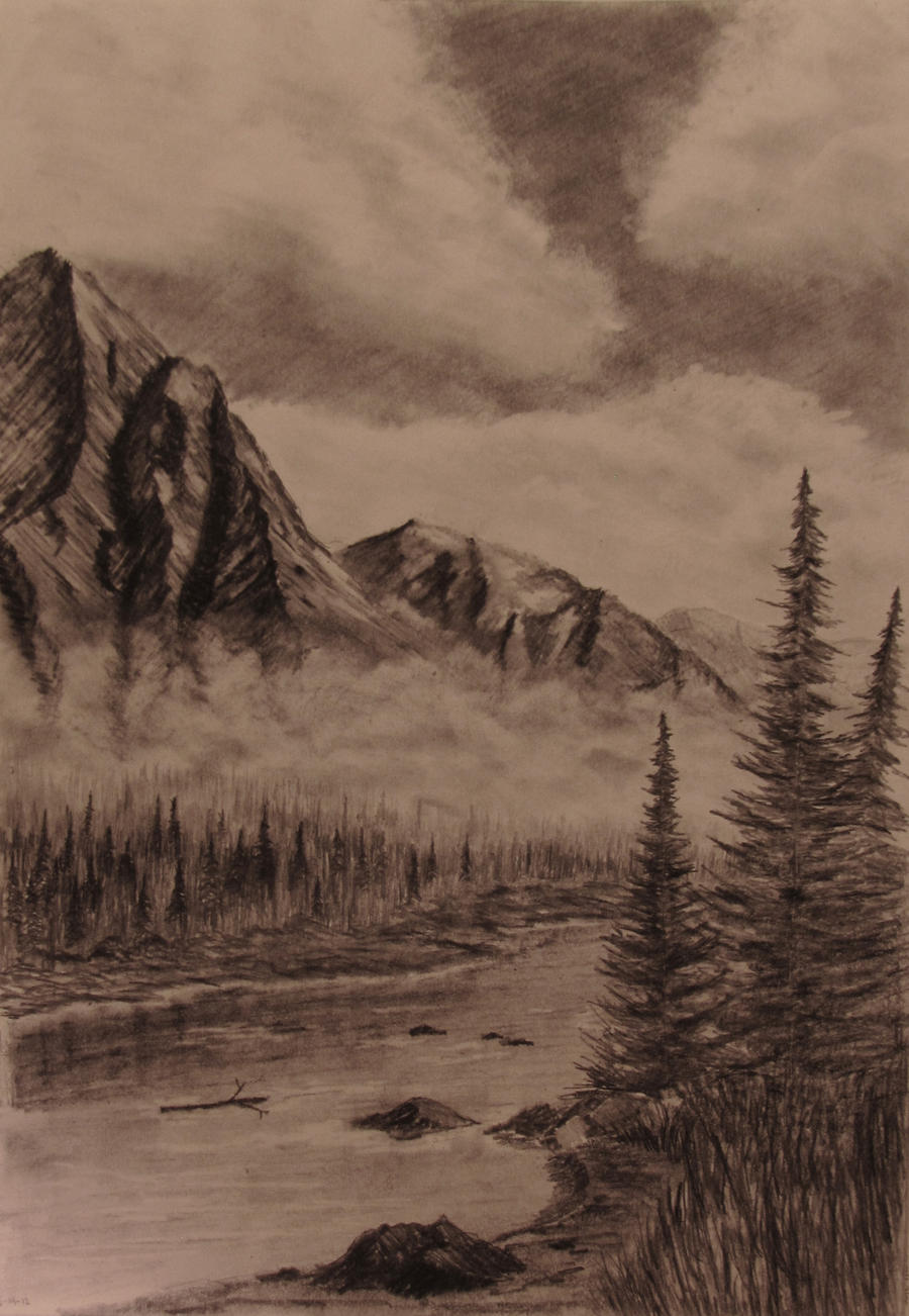Mountains in the Mist by TylersArtShack
