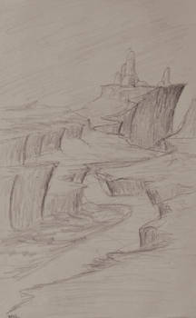 Sketch: Winding Cliffs