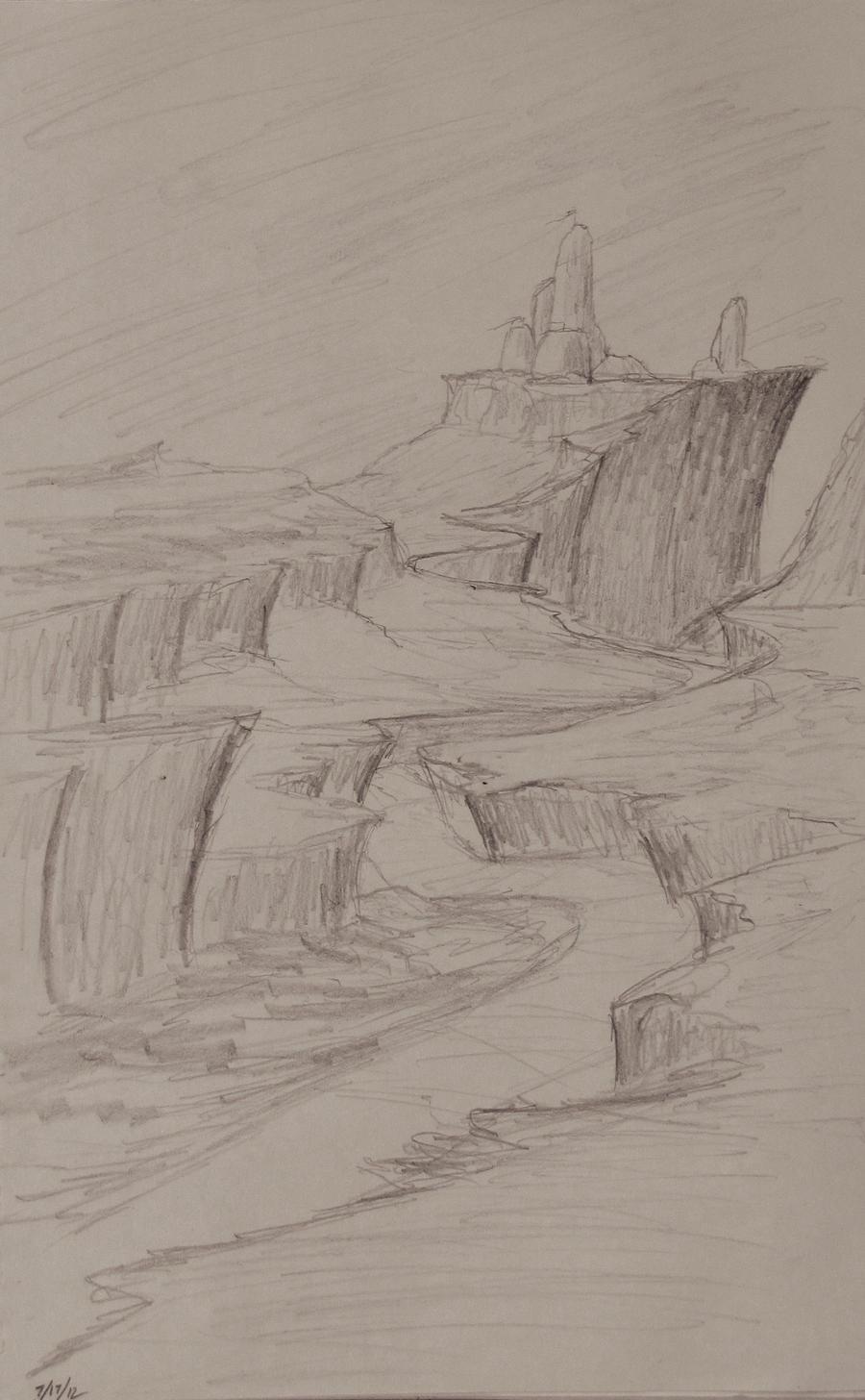 Sketch: Winding Cliffs