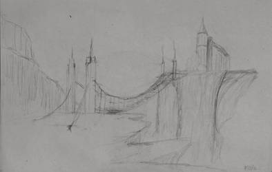 Sketch: Bridge to the Cliffs