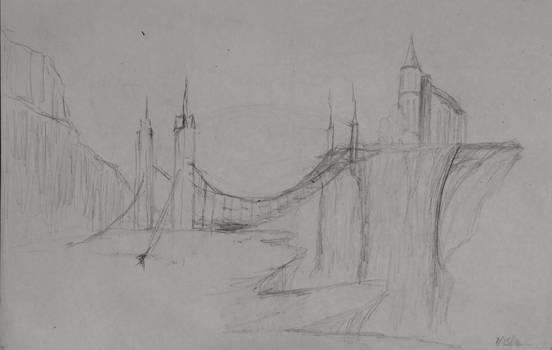 Sketch: Bridge to the Cliffs