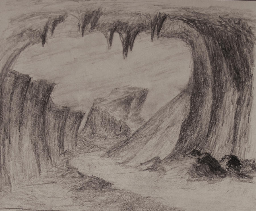 Sketch: Outside the Cave by TylersArtShack