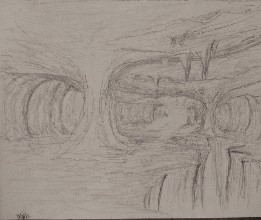 Sketch: The pillars of the Cavern