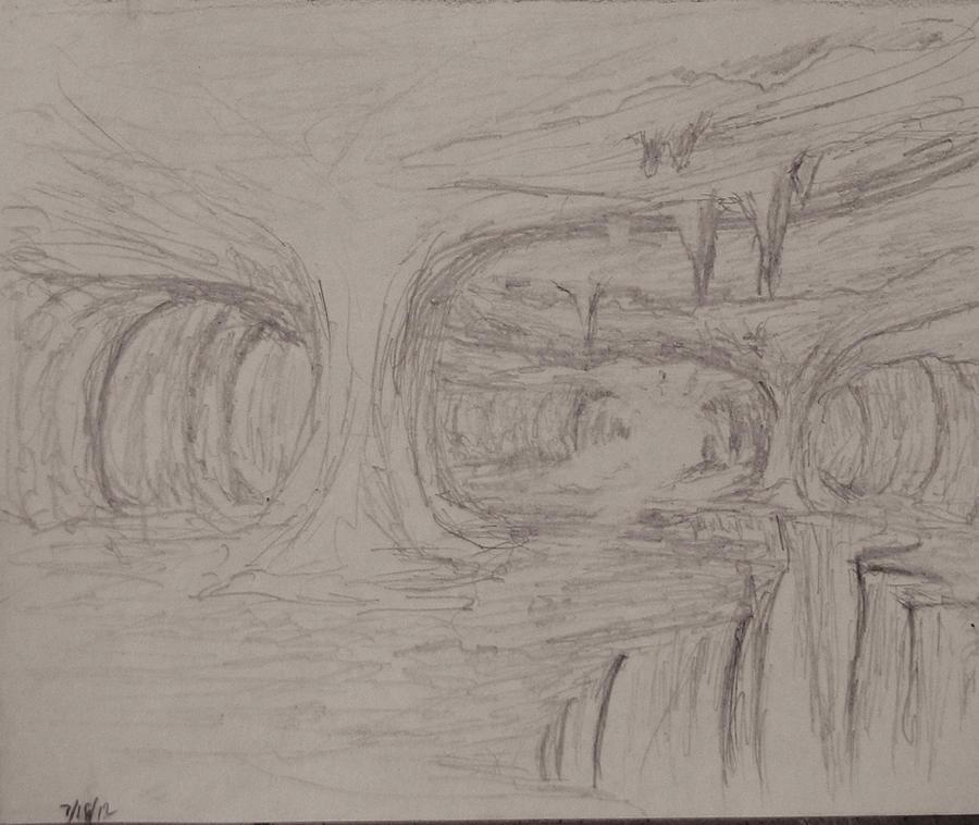 Sketch: The pillars of the Cavern by TylersArtShack