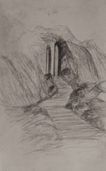 Sketch: Steps to the Mountain