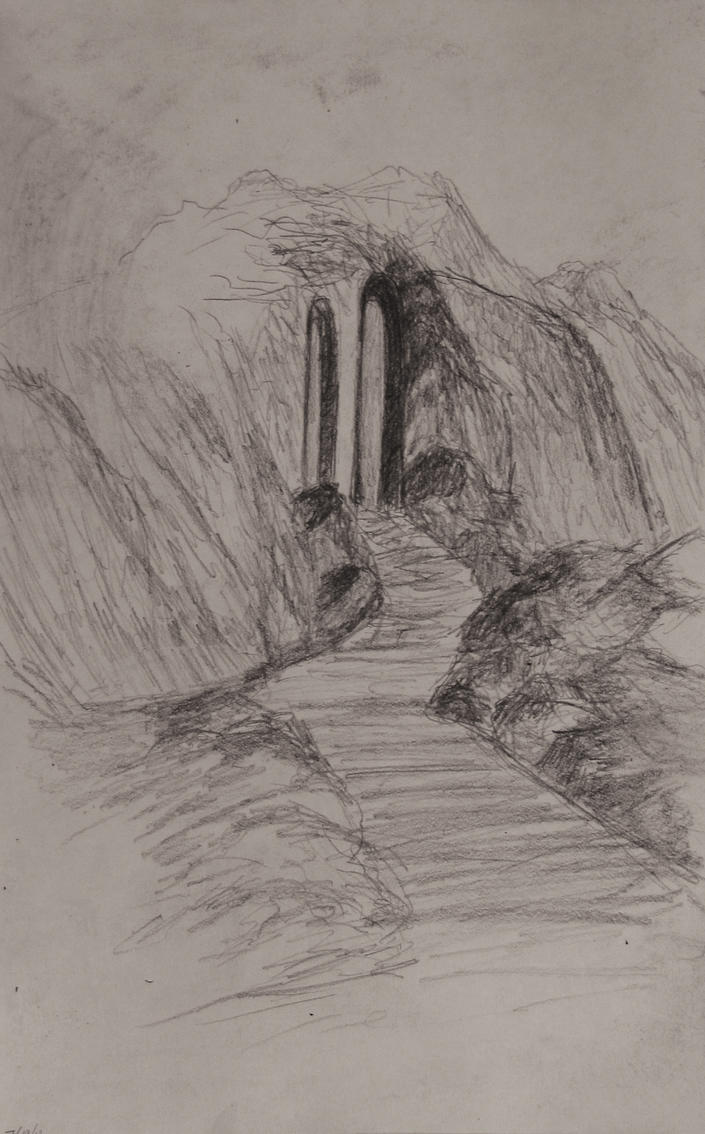 Sketch: Steps to the Mountain by TylersArtShack
