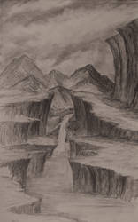 Sketch: The Big Cliffs by TylersArtShack