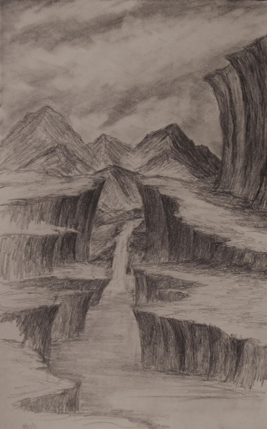 Sketch: The Big Cliffs by TylersArtShack