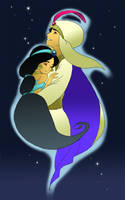 Aladdin and Jasmine by wool100ee