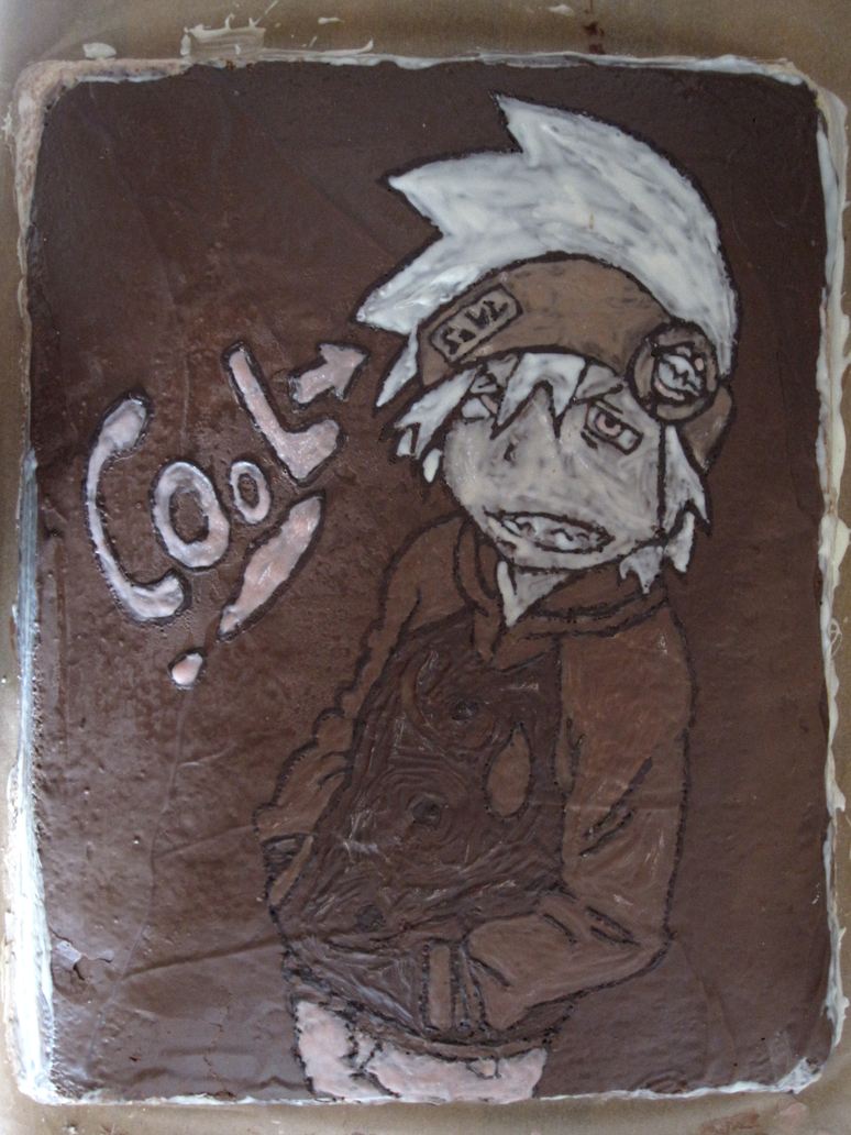 Soul Eater Evans cake by tang-gong