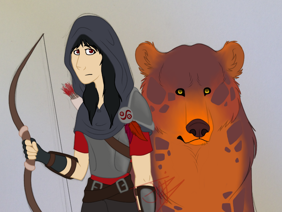 Mitali and Bear by Tunquen