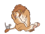 Moke and Cat by Tunquen