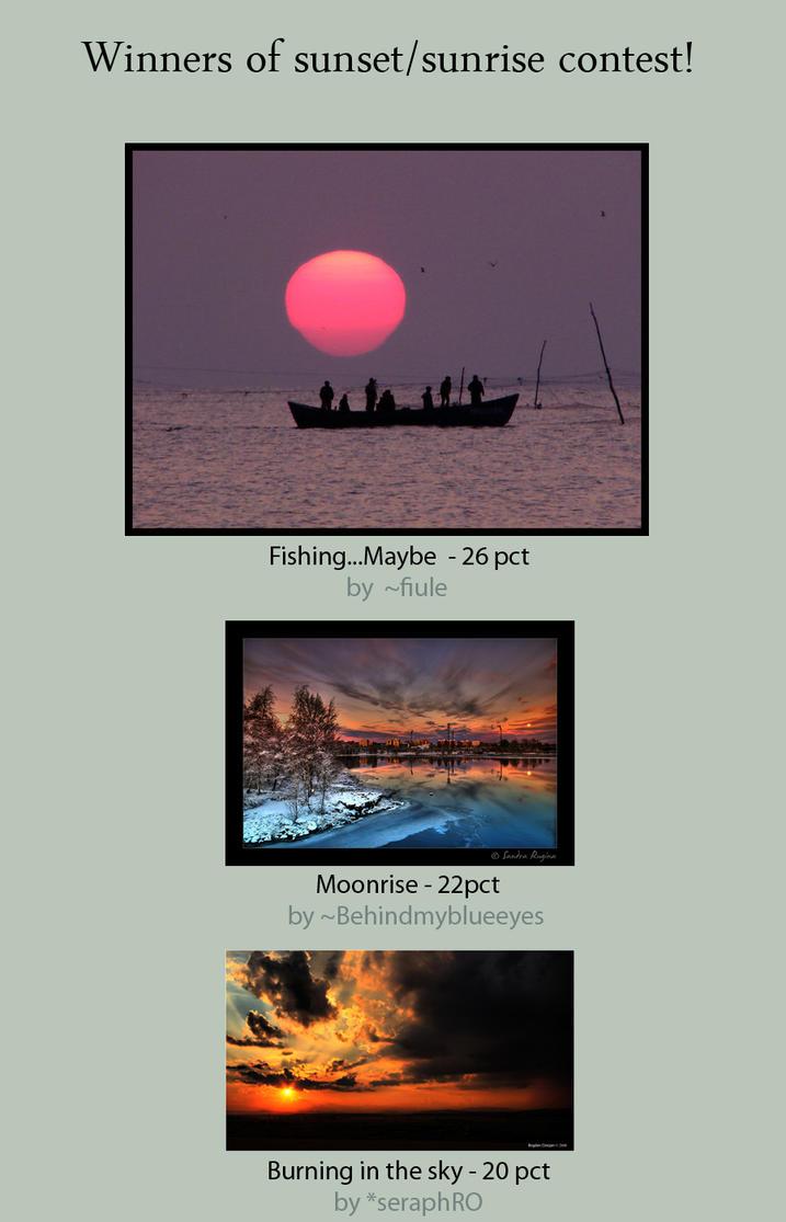 Winners of Sunset-sunrise by Ro-nature