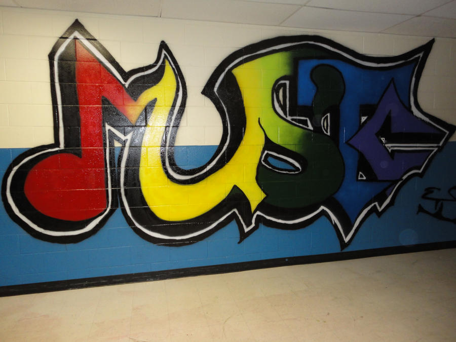 Music Graffiti Piece by wazupman
