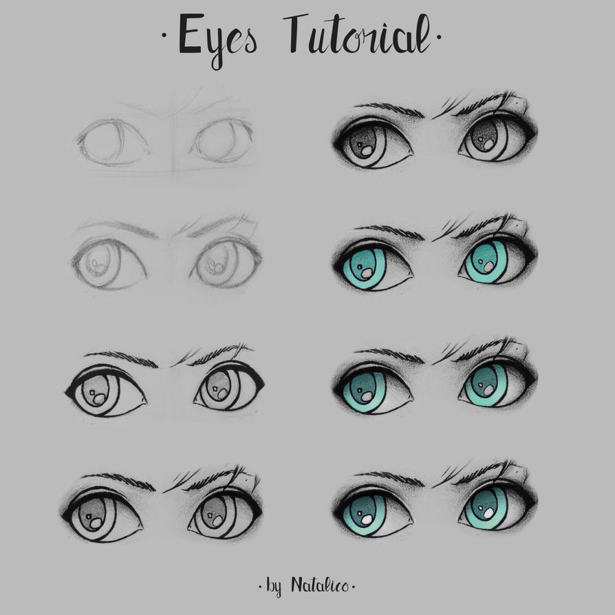 Eyes tutorial by natalico on DeviantArt