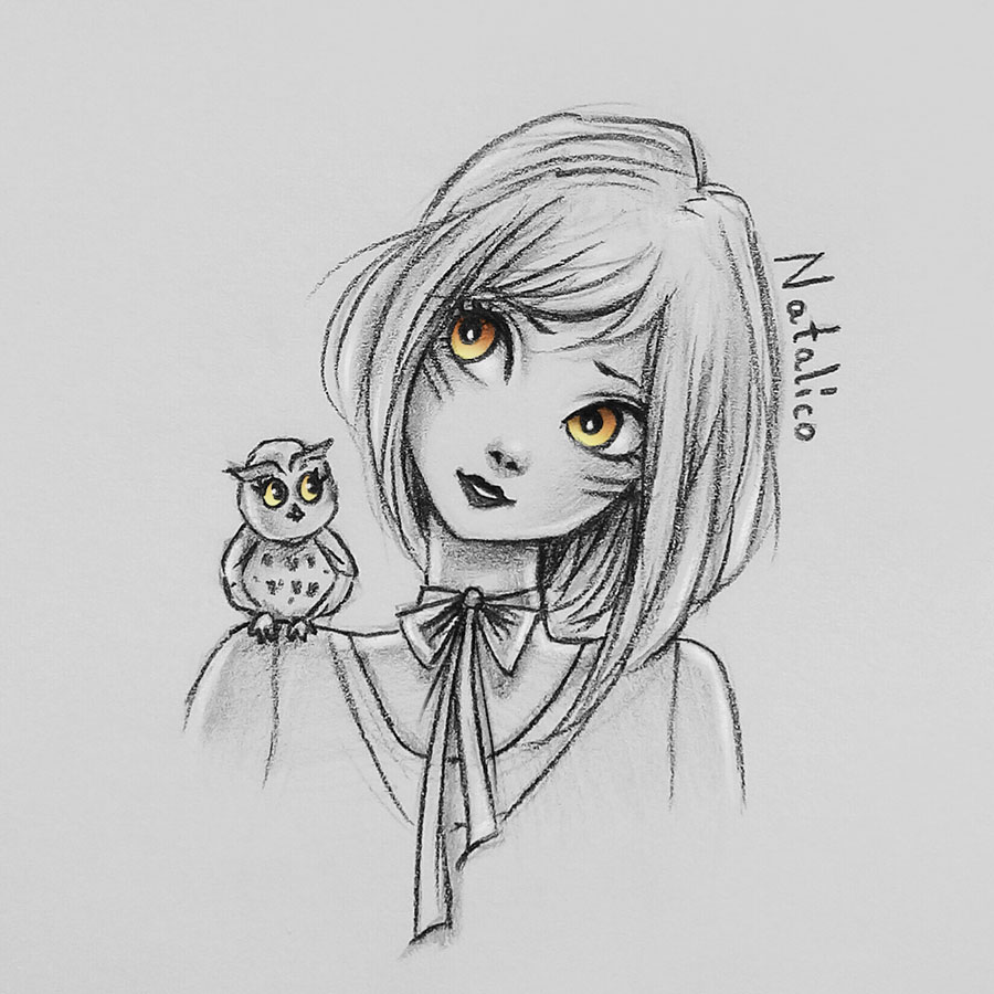 and owl by natalico on deviantart